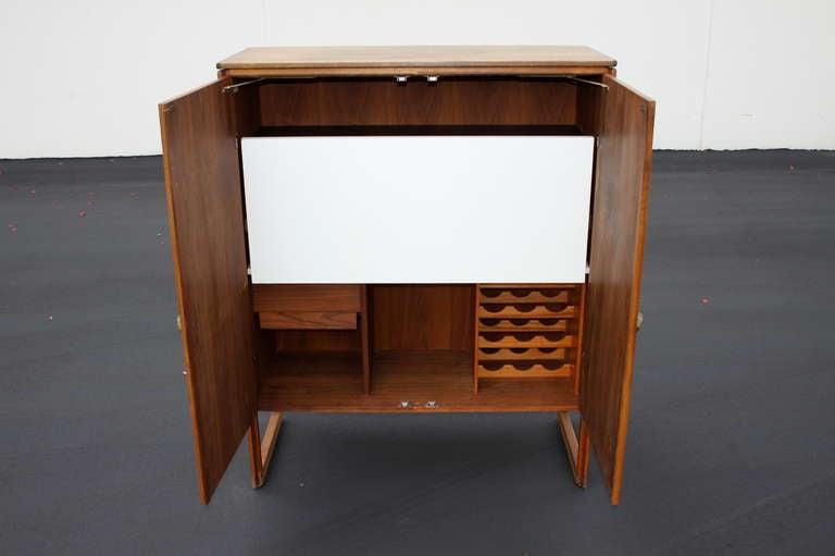 Mid-Century Modern Jens Risom Bar Cabinet For Sale
