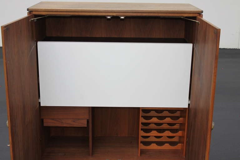 Jens Risom Bar Cabinet In Excellent Condition For Sale In St. Louis, MO