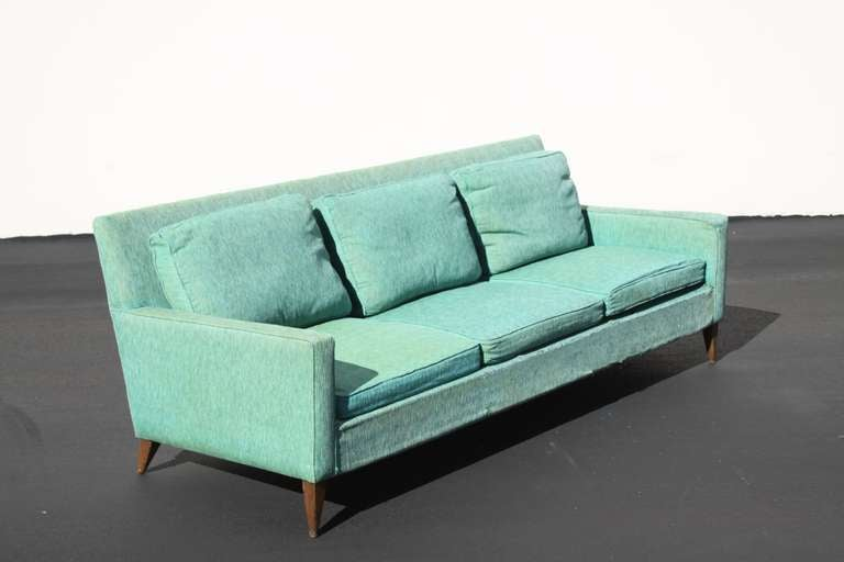 Paul McCobb Planner Group sofa, label, in need of reupholstery as shown, can be upholstered c.o.m. If desired.