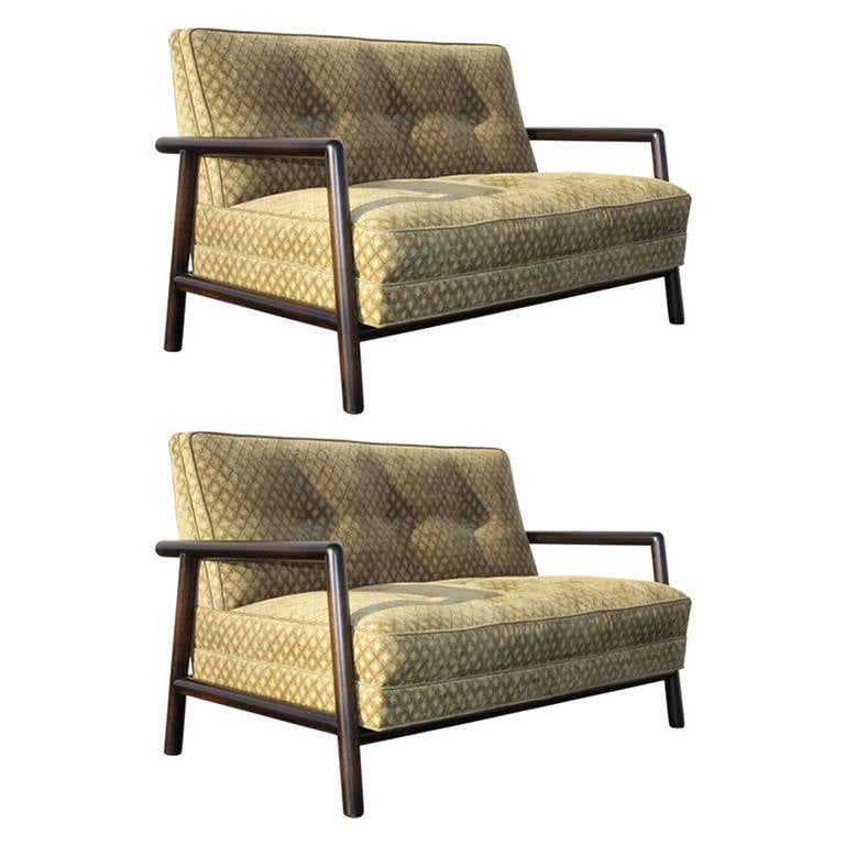 Pair of T.H. Robsjohn-Gibbings Settees for Widdicomb, 1950s