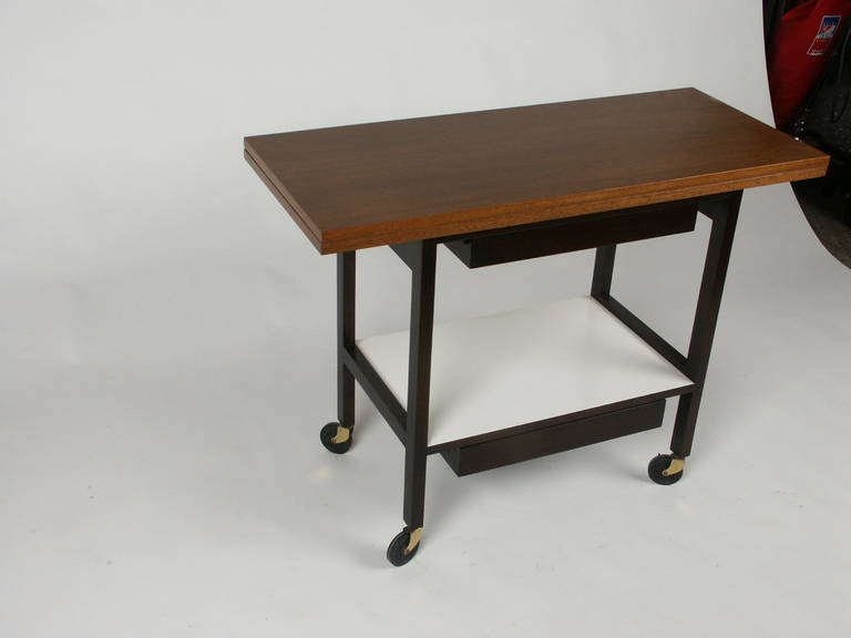 American Edward Wormley for Dunbar Flip-Top Serving or Bar Cart For Sale