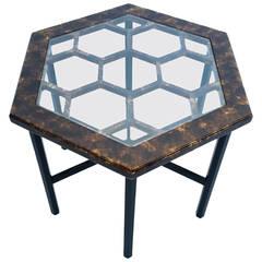 John Widdicomb Hexagonal Side Table