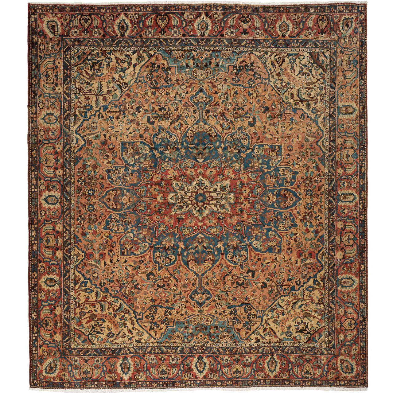 Oversize Antique Bakhtiari Carpet For Sale