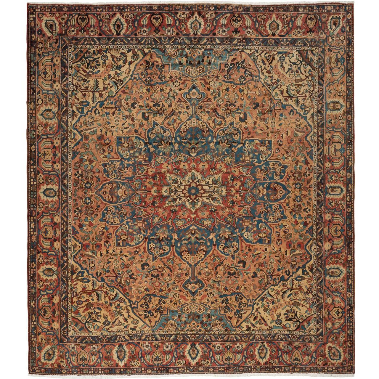 Oversize Antique Bakhtiari Carpet 1