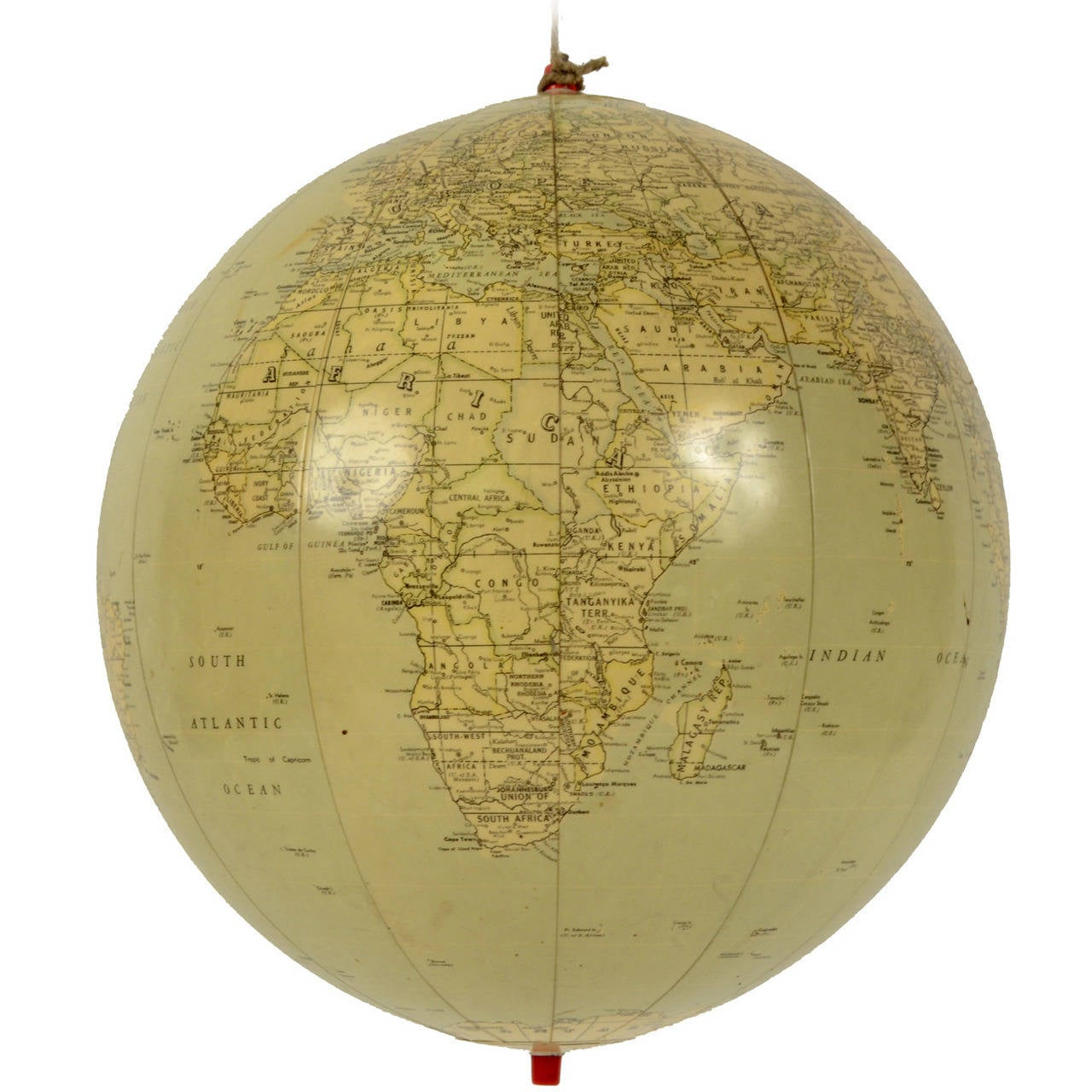 Balloon Terrestrial Globe Shaped, 1950s