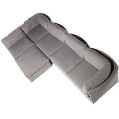 Milo Baughman Scalloped-Back Sectional Sofa for Thayer Coggin, Circa 1970s