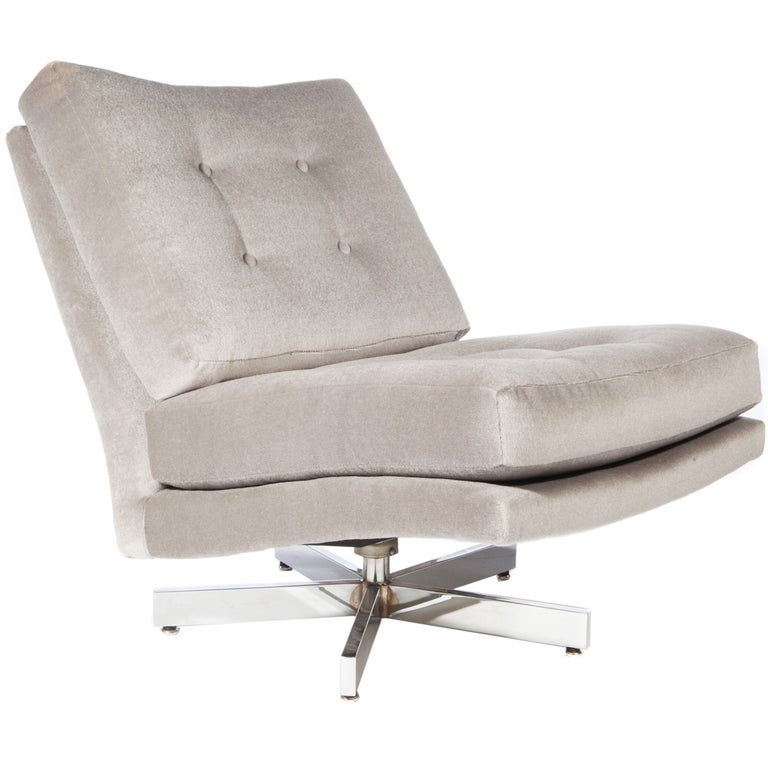 Milo Baughman Swivel Chair For Sale At 1stdibs
