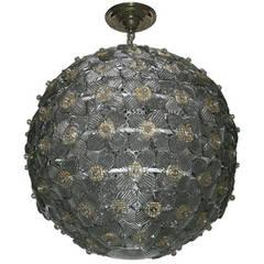 Murano Globe Light Fixture