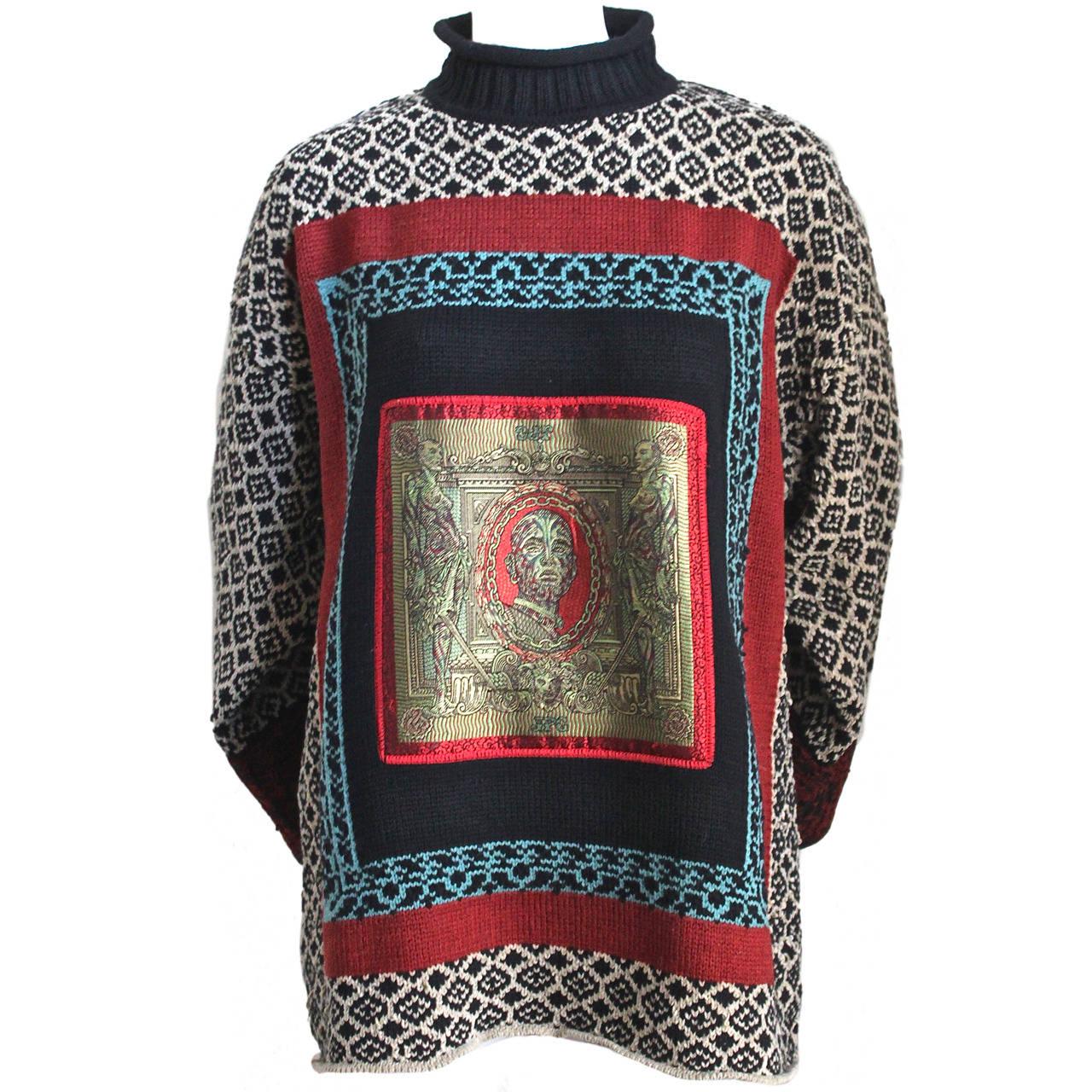 1994 JEAN PAUL GAULTIER 'le grande voyage' runway sweater. 1