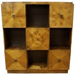 Johan Tapp for Gump Burled Wood Cabinet