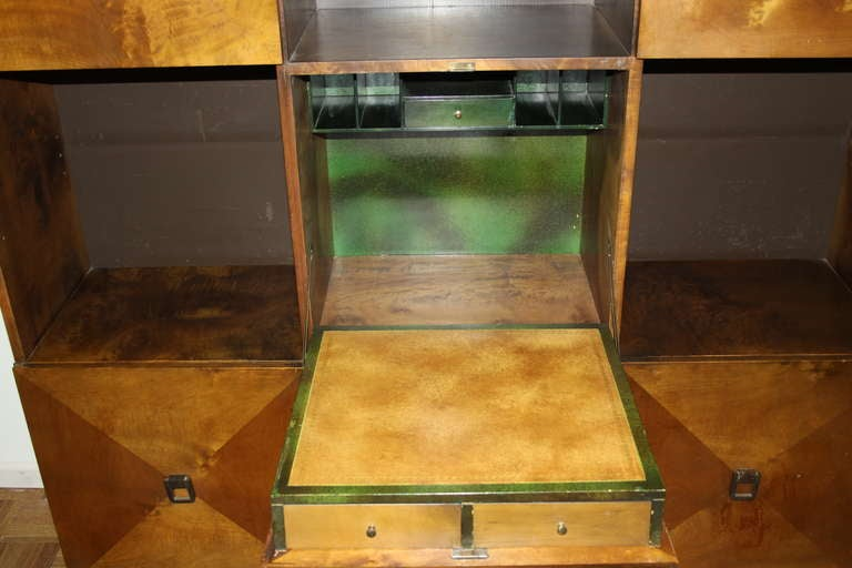 Johan Tapp for Gump Burled Wood Cabinet In Excellent Condition For Sale In St. Louis, MO
