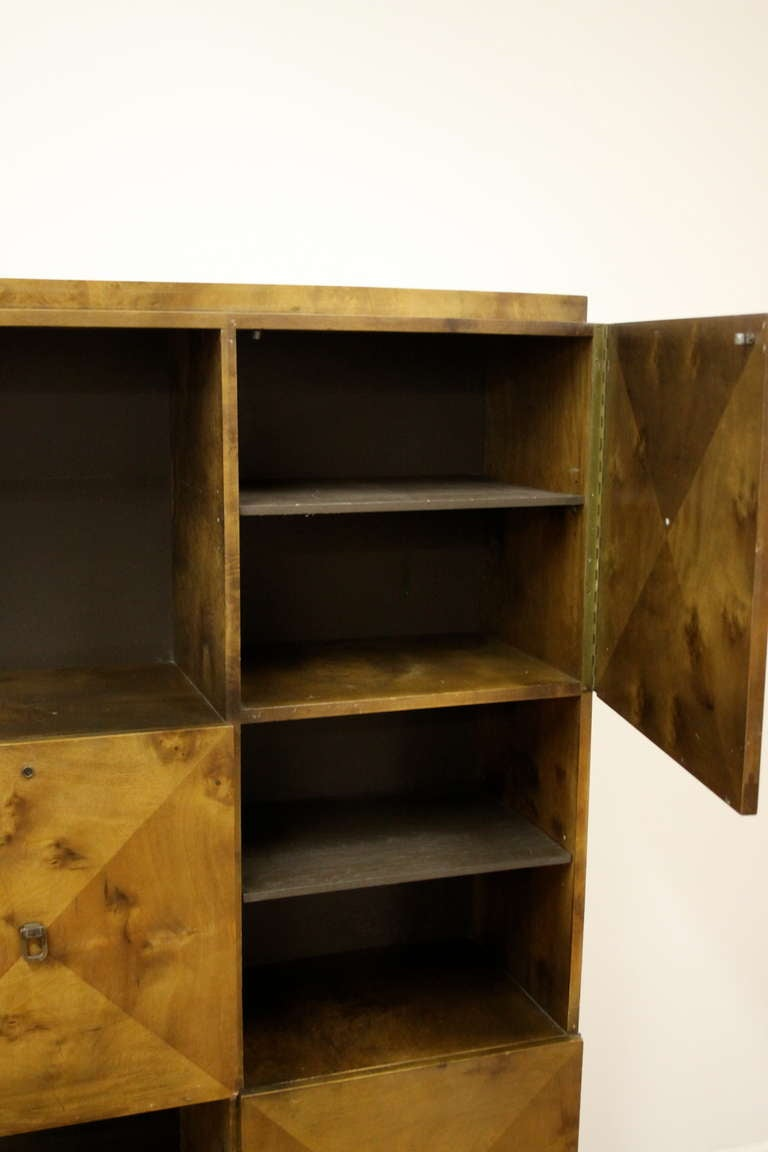 Johan Tapp for Gump Burled Wood Cabinet For Sale 3