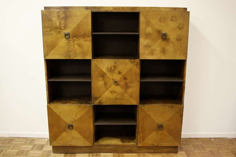 Johan Tapp for Gump Burled Wood Cabinet For Sale 2