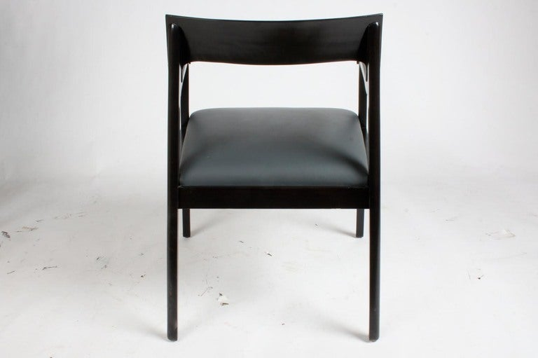Riemerschmid Chairs in the Style of Edward Wormley for Dunbar In Excellent Condition For Sale In St. Louis, MO