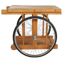"""Chopping Block on Wheels"" Bar Cart by B. W. Saunders"