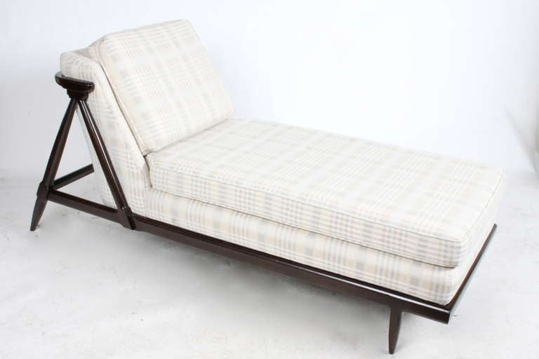 Mid-Century Modern Rare Tomlinson Chaise for their Sophisticate Line in Dark Espresso For Sale