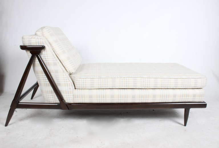 American Rare Tomlinson Chaise for their Sophisticate Line in Dark Espresso For Sale