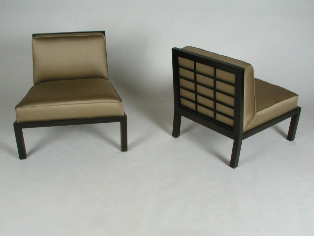 Pair of baker far east slipper chairs designed by michael for Home dec far east ltd