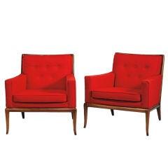 Pair of T.H. Robsjohn-Gibbings club chairs