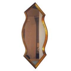 Midcentury Gold Leaf Mirror