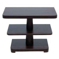 Pair of three tier 1940's dark Mahogany side tables
