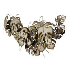 Curtis Jere signed and dated metal leaf wall sculpture