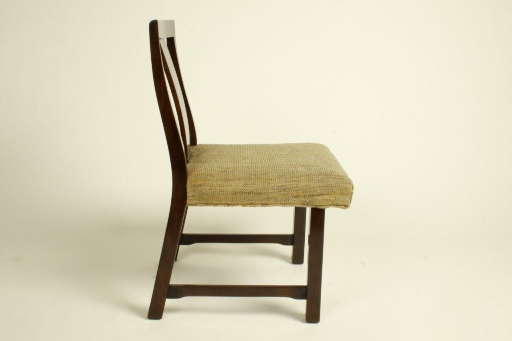 Edward Wormley for Dunbar Set of Eight Dining Chairs 8