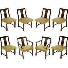 Edward Wormley for Dunbar Set of Eight Dining Chairs