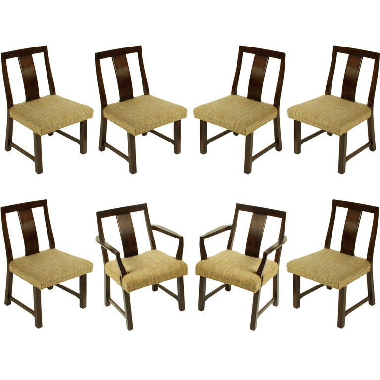 Edward Wormley for Dunbar Set of Eight Dining Chairs 1