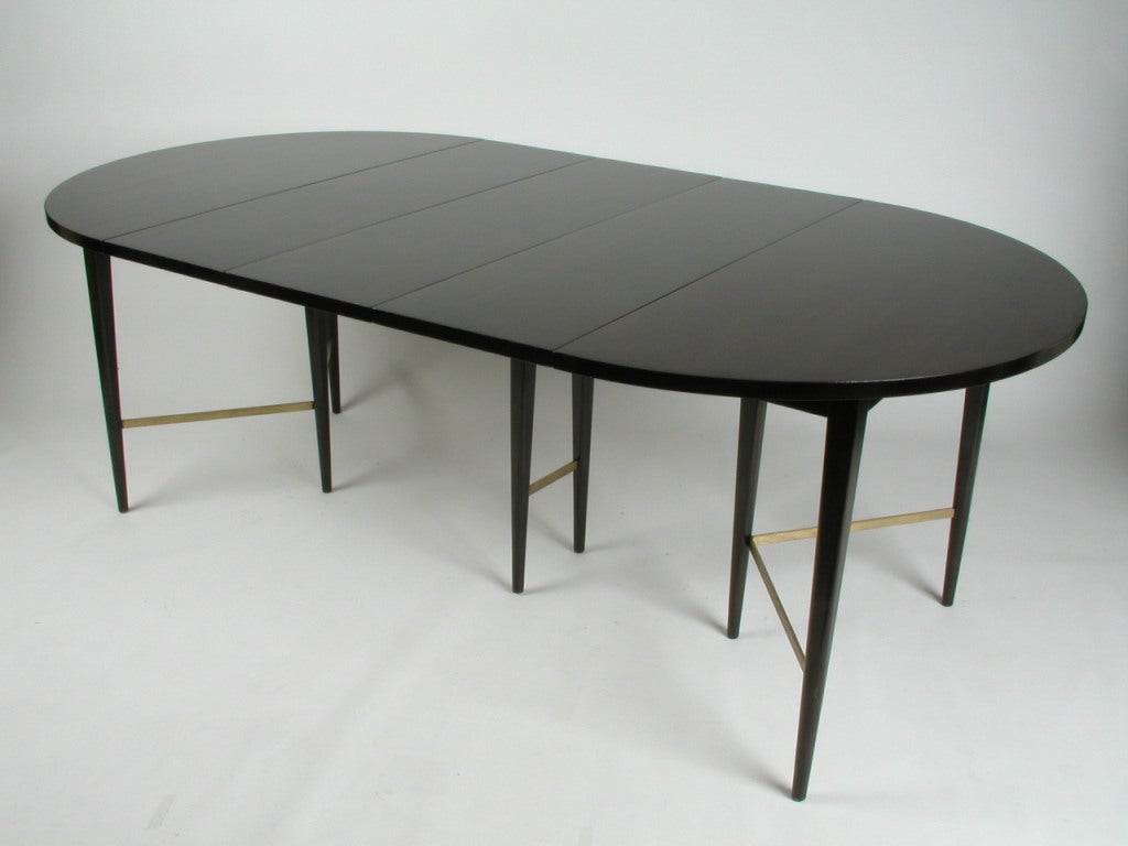 paul mccobb round dining table with 6 extension leaves image 3
