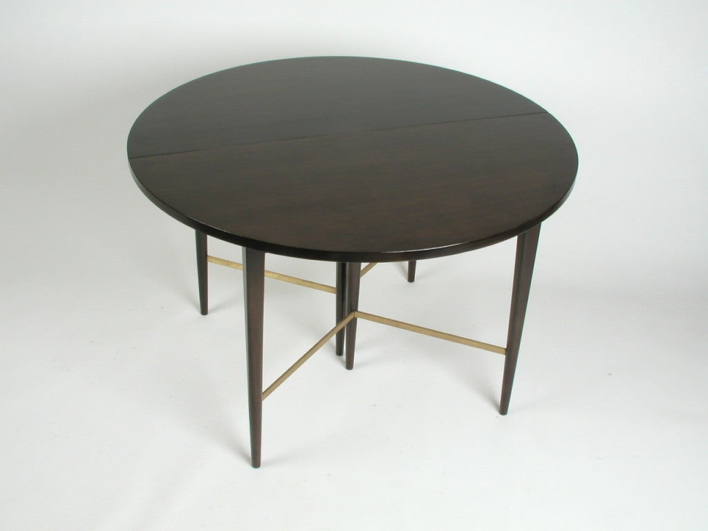 Paul Mccobb Round Dining Table With 6 Extension Leaves At 1stdibs
