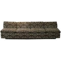 Custom Mid-Century 1970s Low Sofa