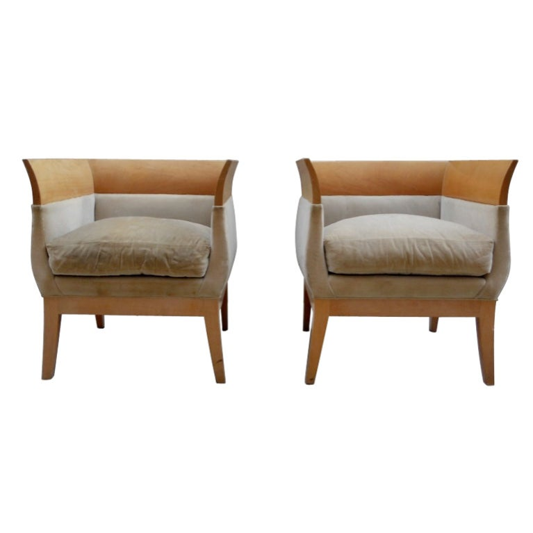 Orlando Diaz Azcuy Club Chairs For Hbf For Sale At 1stdibs