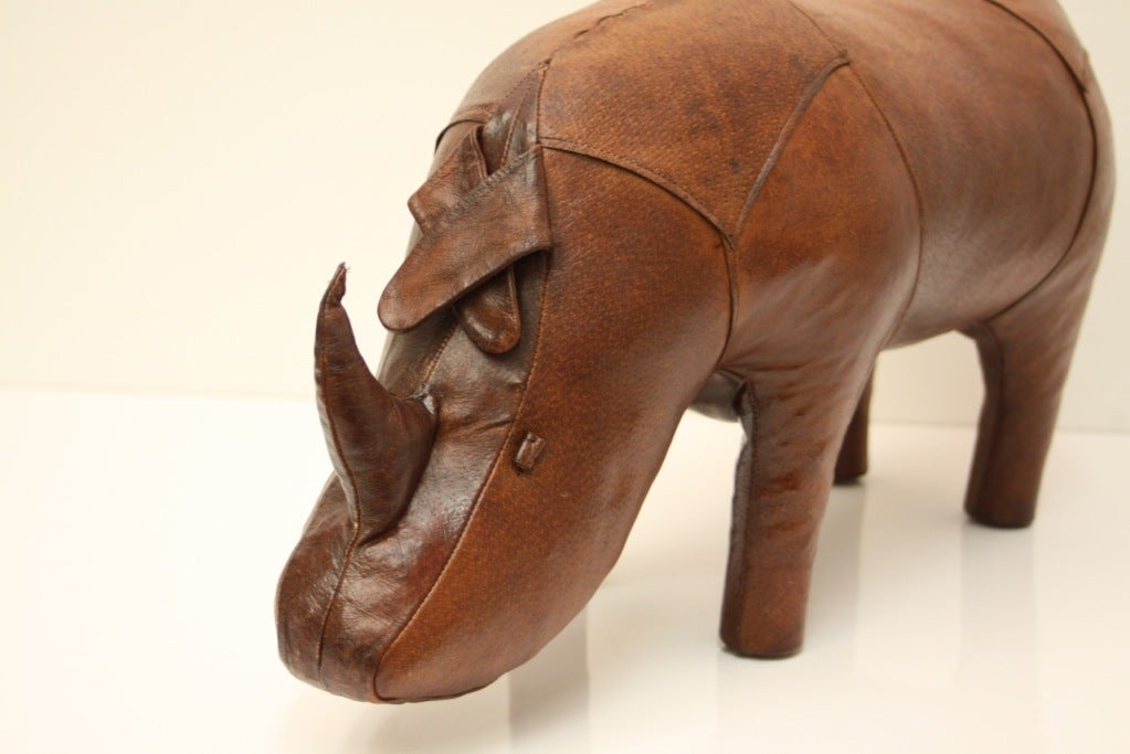Omersa Leather Rhino ottoman retailed by Abercrombie & Fitch image 4