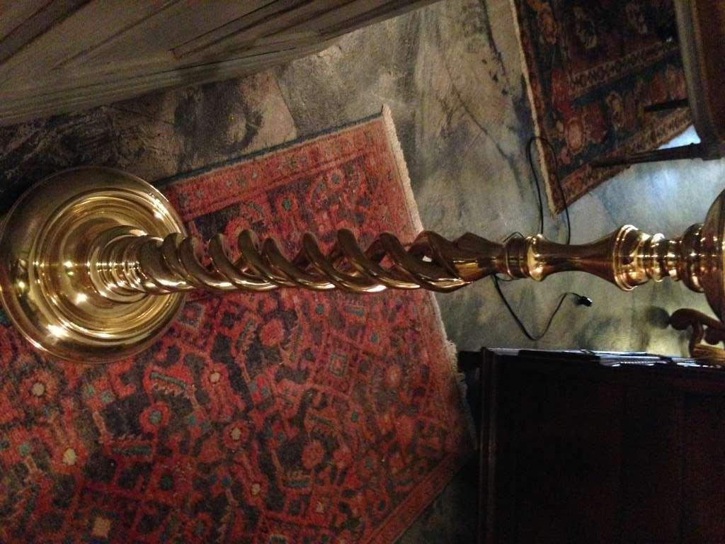 brass barley twist floor lamp at 1stdibs. Black Bedroom Furniture Sets. Home Design Ideas
