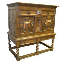 Oak Chest (17th Century) on Stand (19th Century)