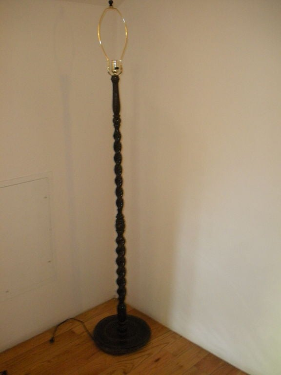 pair barley twist standing lamps at 1stdibs. Black Bedroom Furniture Sets. Home Design Ideas