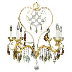French Gilt Iron Chandelier