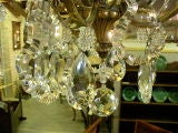 French Six Light Gilt Bronze and Crystal Chandelier image 5