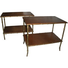 Pair of Maison Bagues Side Tables