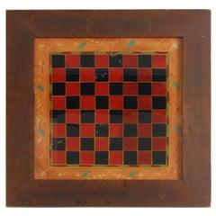 19thc Original Reverse Painted Game Board