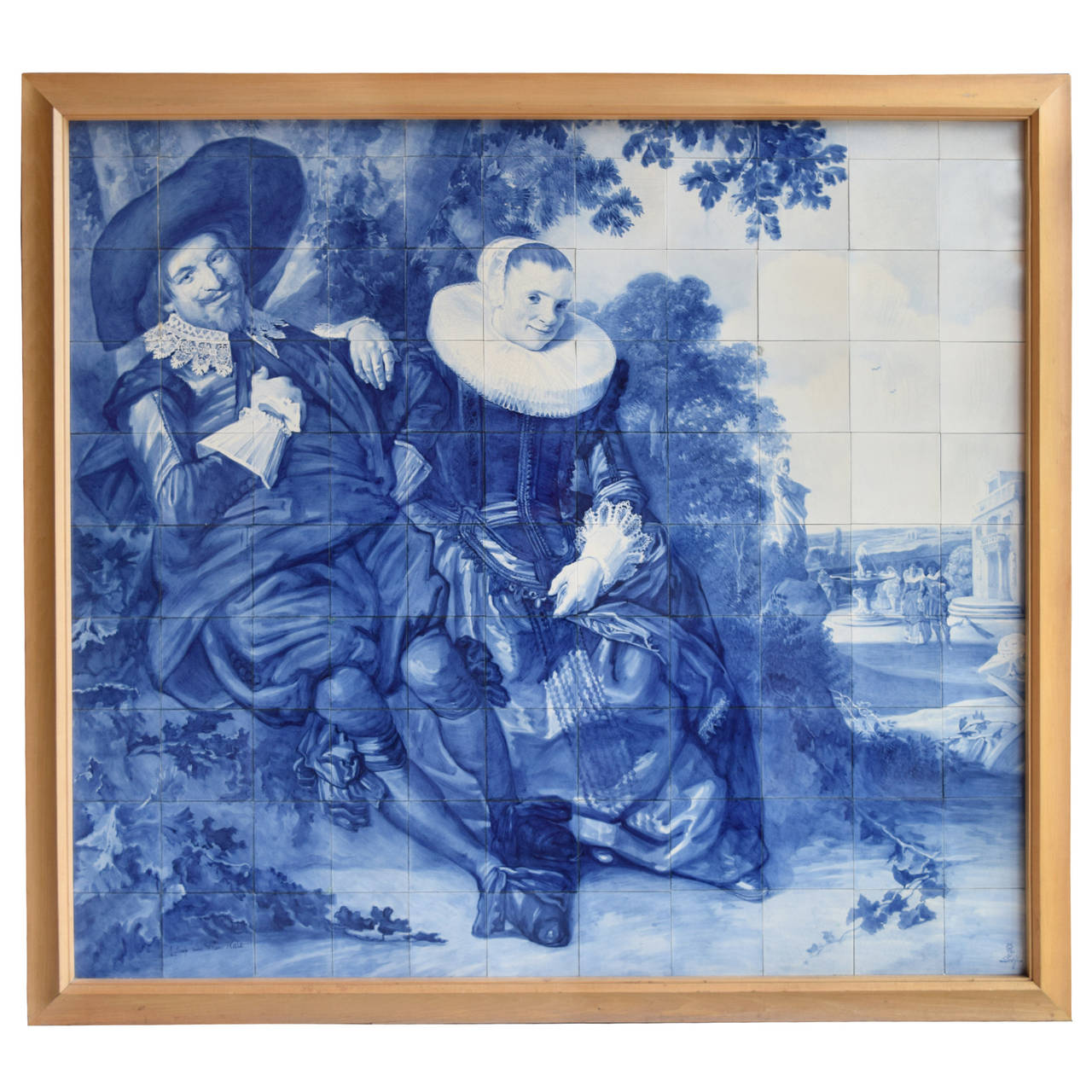 Rare Delft Tile Mosaic For Sale at 1stdibs