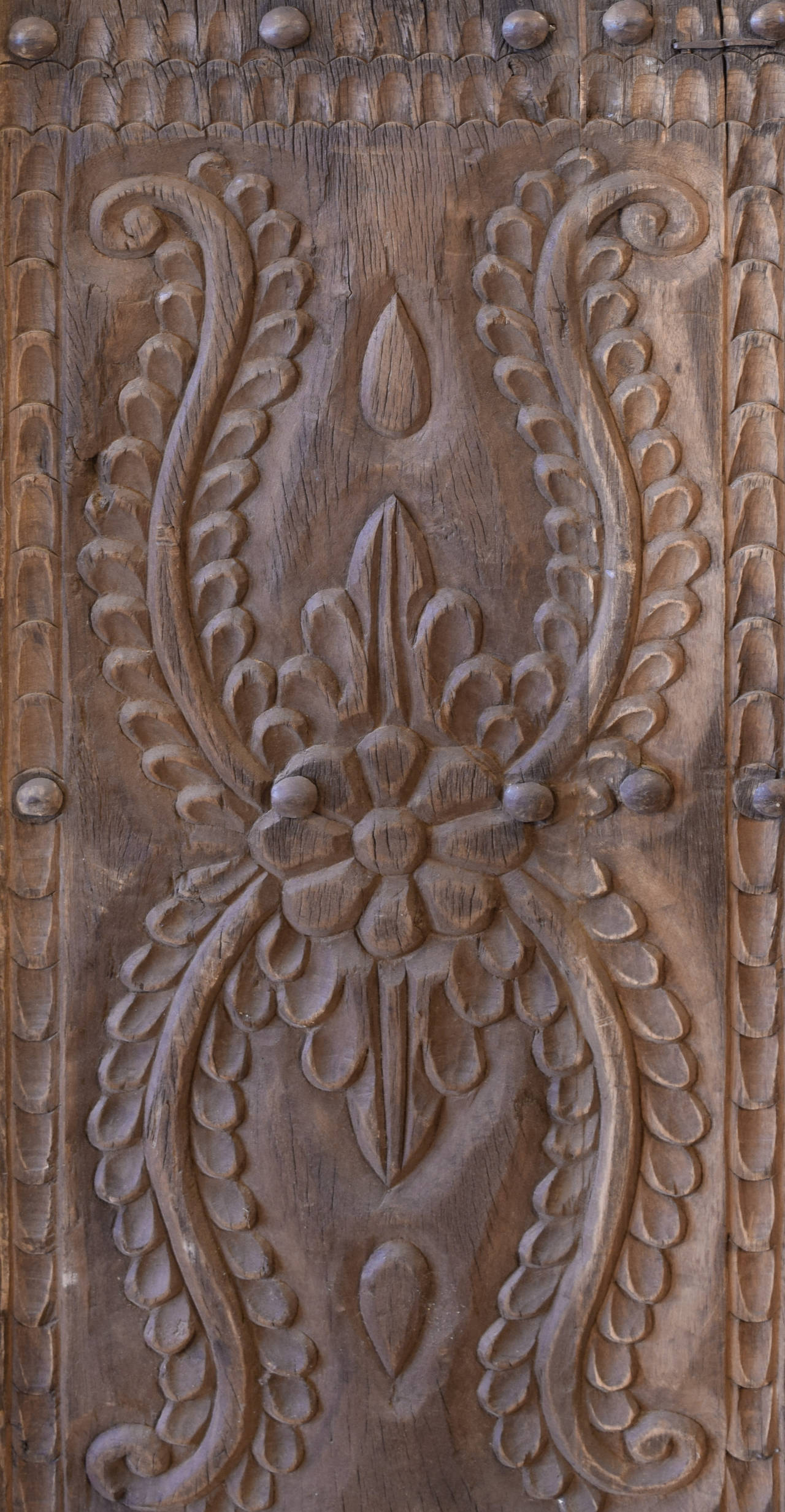 Pair Of Heavily Carved Doors From Peru At 1stdibs