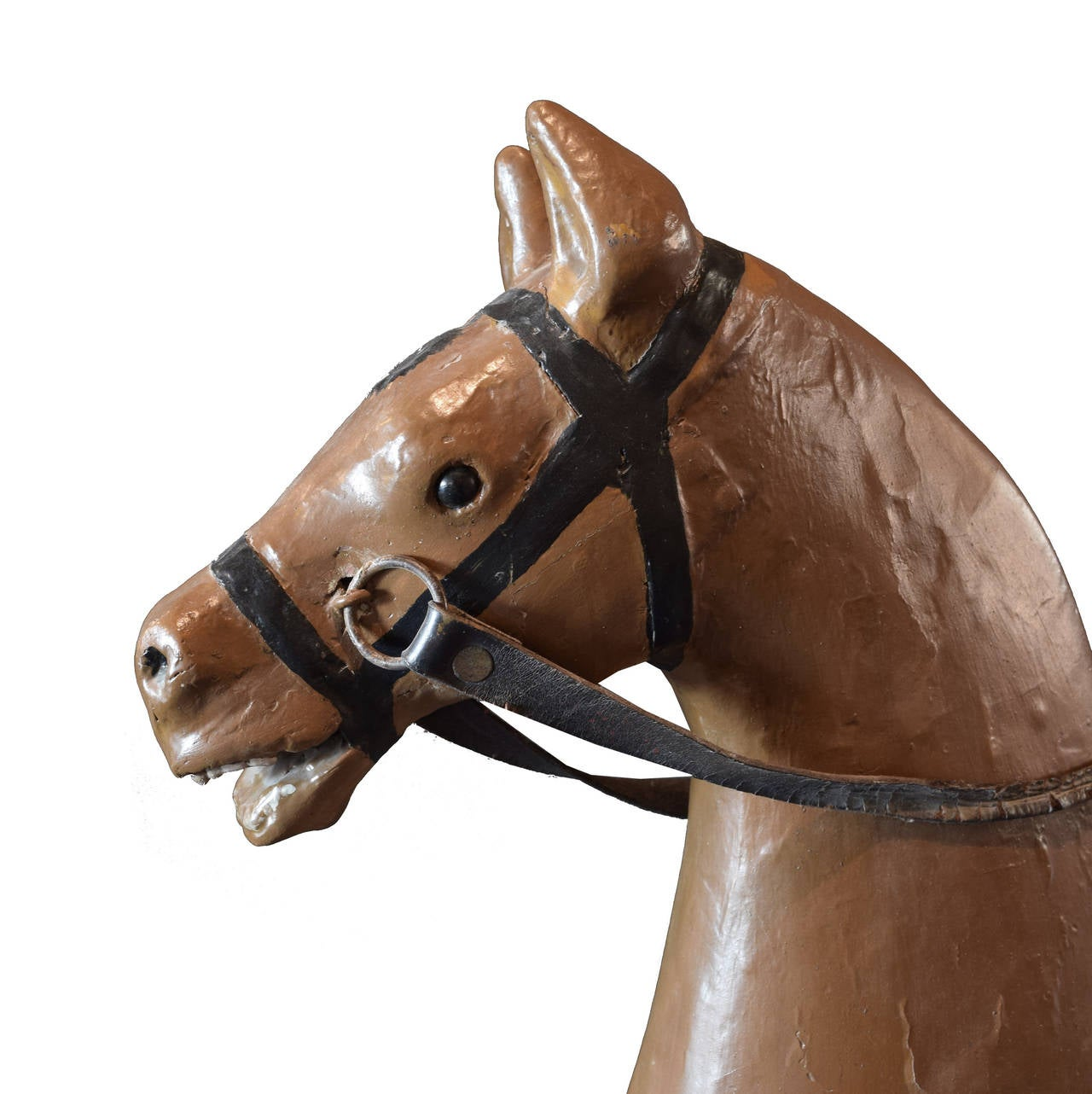 Early 20th Century Carved Wood Carousel Horse 5