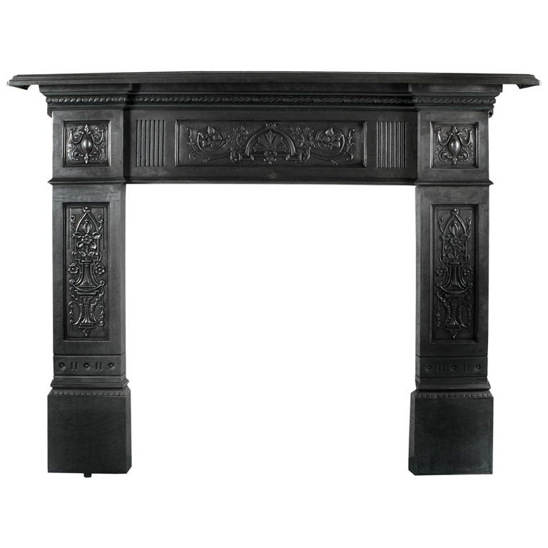 Polished Cast Iron Fireplace Surround For Sale at 1stdibs