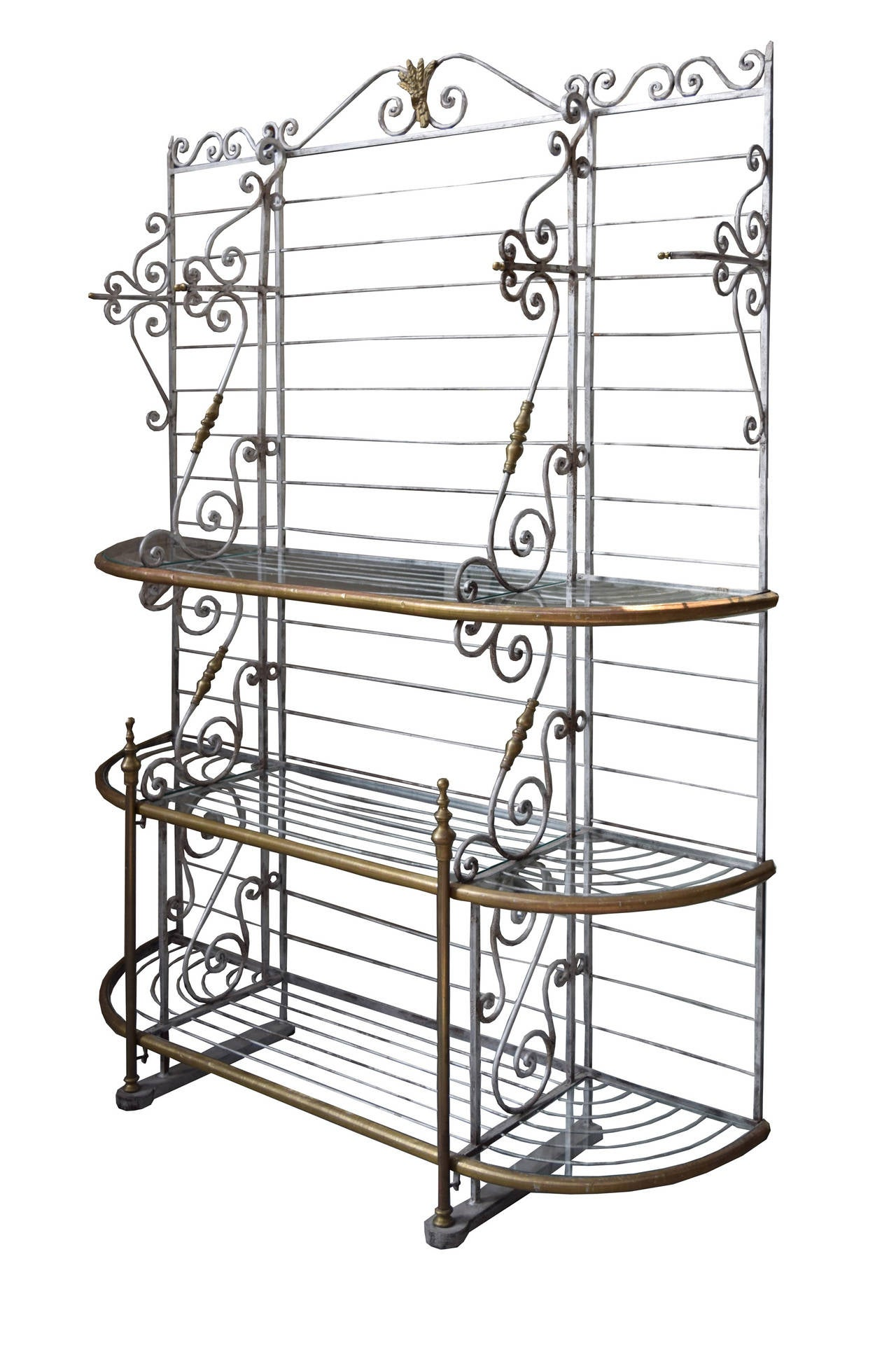 Wonderful image of Wrought Iron Bakers Rack With Wood Shelves Pictures to pin on  with #5F4D39 color and 1280x1928 pixels