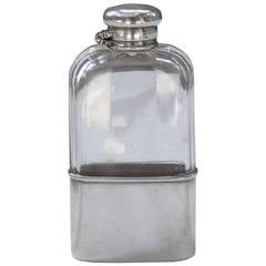 Tiffany & Co. Cut Crystal and Sterling Silver Flask