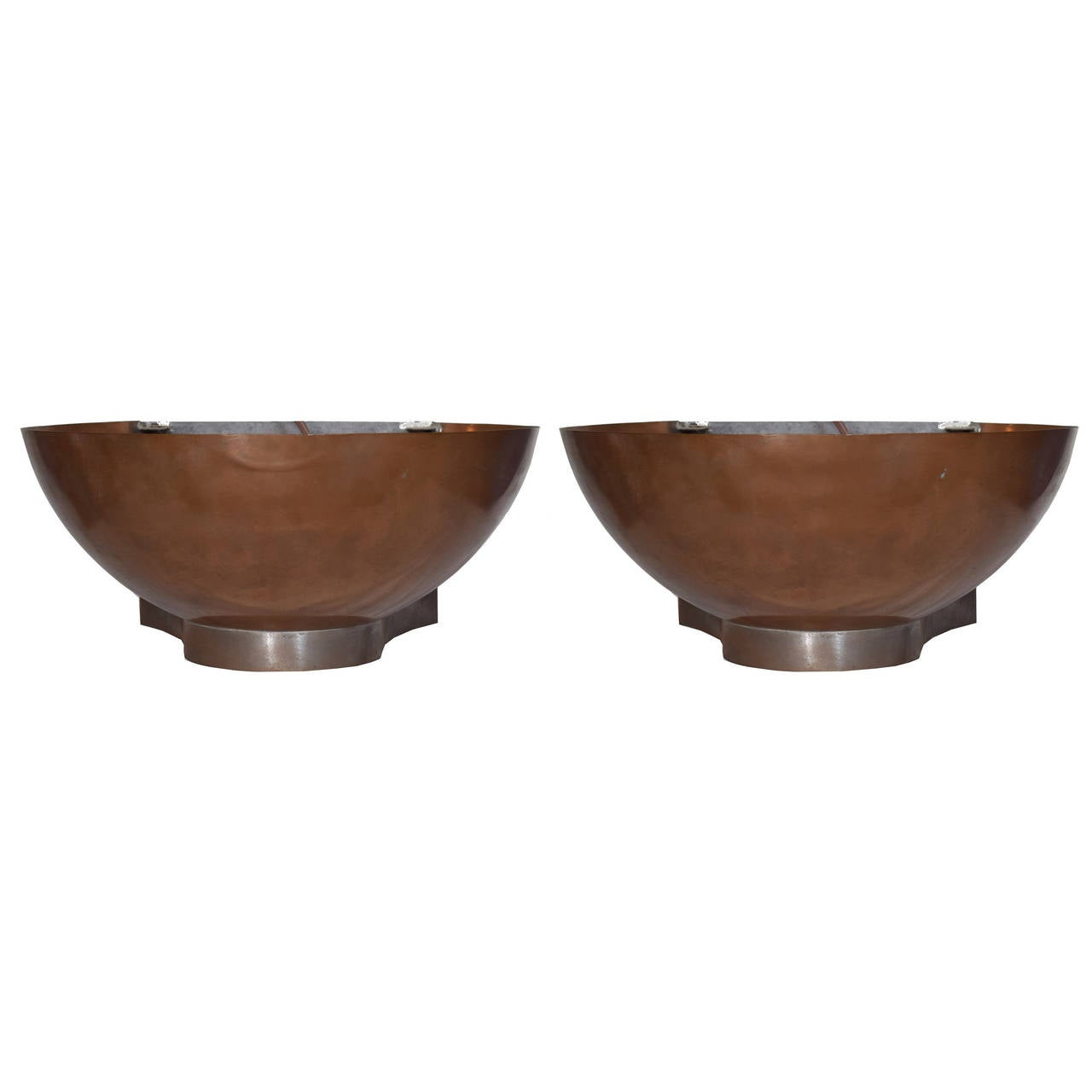 Wall Sconces Copper : Pair of Copper and Iron Wall Sconces For Sale at 1stdibs
