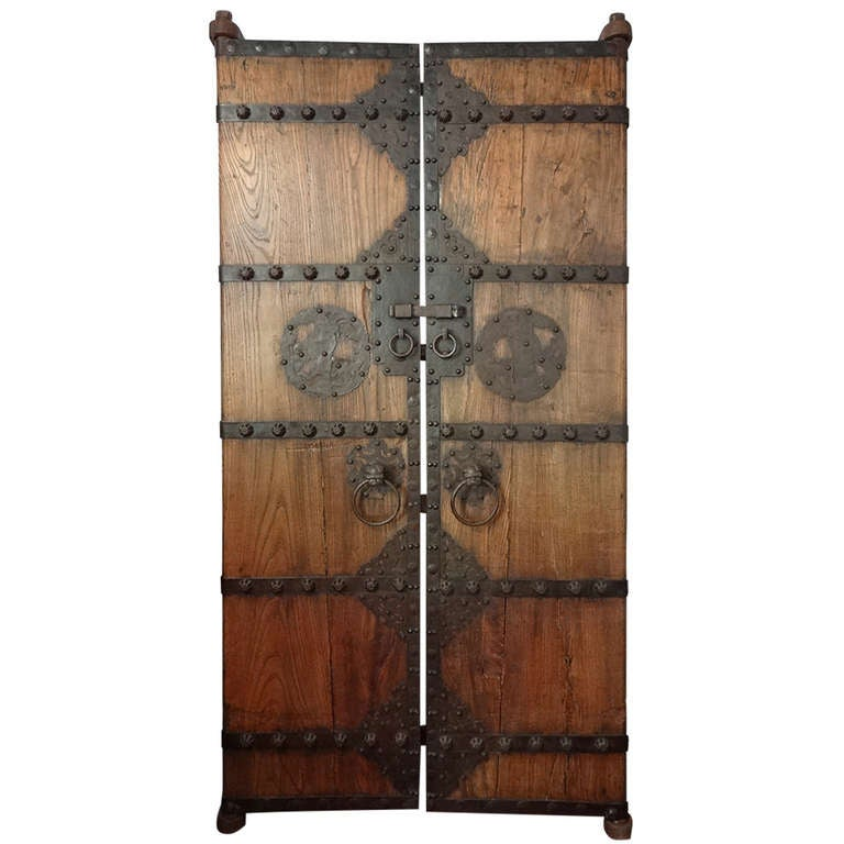 Chinese Garden Gate Doors At 1stdibs