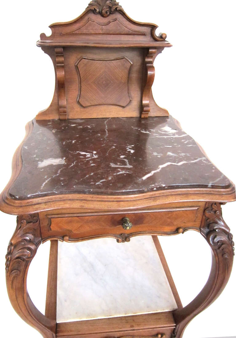 Carved french cherry night stand pot cabinet at stdibs